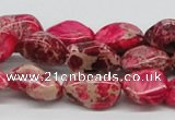 CDE26 15.5 inches 10*20mm nuggets dyed sea sediment jasper beads