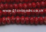 CDE2616 15.5 inches 5*8mm rondelle dyed sea sediment jasper beads