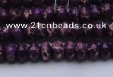 CDE2632 15.5 inches 5*8mm rondelle dyed sea sediment jasper beads