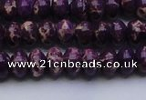 CDE2634 15.5 inches 8*12mm rondelle dyed sea sediment jasper beads