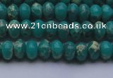 CDE2665 15.5 inches 7*10mm rondelle dyed sea sediment jasper beads