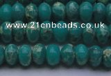CDE2667 15.5 inches 10*14mm rondelle dyed sea sediment jasper beads