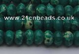 CDE2674 15.5 inches 8*12mm rondelle dyed sea sediment jasper beads