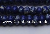 CDE2682 15.5 inches 8*12mm rondelle dyed sea sediment jasper beads