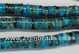 CDE276 15.5 inches 2*8mm heishi dyed sea sediment jasper beads