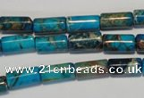 CDE279 15.5 inches 6*12mm tube dyed sea sediment jasper beads