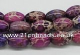CDE31 15.5 inches 10*14mm rice dyed sea sediment jasper beads
