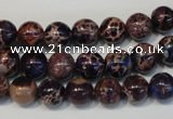 CDE362 15.5 inches 8mm round dyed sea sediment jasper beads