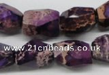 CDE38 15.5 inches 14*18mm faceted nuggets dyed sea sediment jasper beads