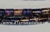 CDE380 15.5 inches 8*10mm tube dyed sea sediment jasper beads
