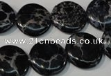 CDE689 15.5 inches 18mm flat round dyed sea sediment jasper beads
