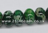CDE73 15.5 inches 12*18mm rondelle dyed sea sediment jasper beads