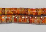 CDE734 15.5 inches 3*8mm heishi dyed sea sediment jasper beads