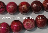 CDE762 15.5 inches 14mm round dyed sea sediment jasper beads