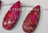 CDE799 Top-drilled 16*32mm flat teardrop dyed sea sediment jasper beads