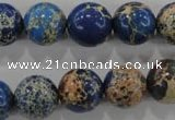 CDE816 15.5 inches 14mm round dyed sea sediment jasper beads wholesale