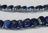 CDE911 15.5 inches 12mm flat round dyed sea sediment jasper beads