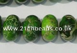 CDE928 15.5 inches 12*18mm rondelle dyed sea sediment jasper beads