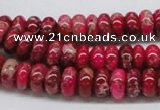 CDI07 16 inches 5*10mm rondelle dyed imperial jasper beads wholesale