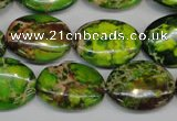 CDI118 15.5 inches 15*20mm oval dyed imperial jasper beads