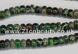 CDI159 15.5 inches 4*6mm rondelle dyed imperial jasper beads