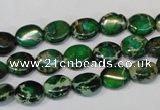 CDI179 15.5 inches 8*10mm oval dyed imperial jasper beads