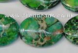 CDI186 15.5 inches 22*30mm oval dyed imperial jasper beads