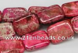 CDI21 16 inches 13*18mm rectangle dyed imperial jasper beads