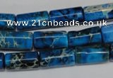 CDI282 15.5 inches 8*17mm tube dyed imperial jasper beads