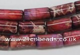 CDI34 16 inches 8*16mm column dyed imperial jasper beads wholesale