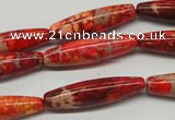 CDI513 15.5 inches 8*31mm rice dyed imperial jasper beads