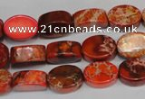 CDI528 15.5 inches 10*14mm oval dyed imperial jasper beads