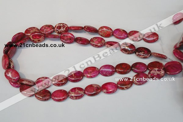 CDI645 15.5 inches 13*18mm oval dyed imperial jasper beads