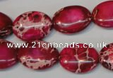 CDI646 15.5 inches 15*20mm oval dyed imperial jasper beads