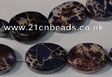 CDI710 15.5 inches 13*18mm oval dyed imperial jasper beads