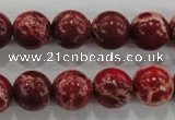 CDI824 15.5 inches 12mm round dyed imperial jasper beads wholesale