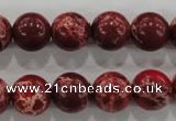 CDI825 15.5 inches 14mm round dyed imperial jasper beads wholesale