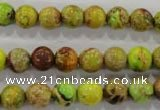 CDI863 15.5 inches 10mm round dyed imperial jasper beads wholesale