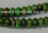 CDI927 15.5 inches 6*10mm rondelle dyed imperial jasper beads