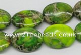 CDI93 16 inches 15*20mm oval dyed imperial jasper beads wholesale