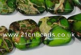 CDI947 15.5 inches 20*20mm square dyed imperial jasper beads