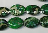 CDI972 15.5 inches 13*18mm oval dyed imperial jasper beads