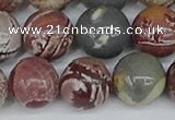 CDJ405 15.5 inches 14mm round sonoran dendritic jasper beads