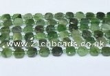 CDJ410 15.5 inches 8mm faceted square Canadian jade beads