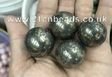 CDN09 25mm round pyrite gemstone decorations wholesale