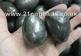 CDN31 38*50mm egg-shaped pyrite gemstone decorations wholesale