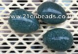CDN312 30*40mm egg-shaped synthetic gemstone decorations wholesale