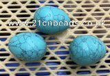 CDN315 30*40mm egg-shaped imitation turquoise decorations wholesale
