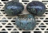 CDN323 30*40mm egg-shaped blood jasper decorations wholesale