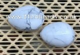 CDN341 35*50mm egg-shaped white howlite decorations wholesale